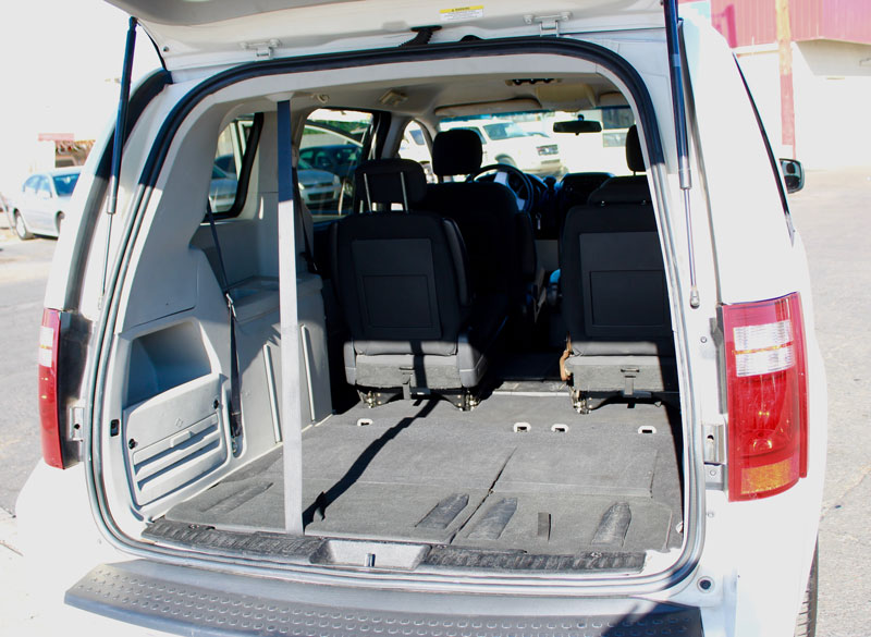The Minivan seating 4 provides Tons of space for Luggage