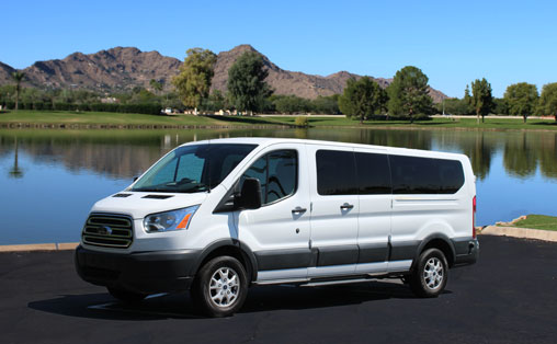Ford 15 Passenger Van for rent at Phoenix Van Rental